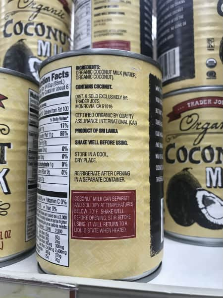 Must Have Trader Joes Coconut Milk | Spiro Health and Wellness